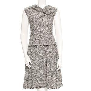 Oscar de la Renta black, white and grey dress.